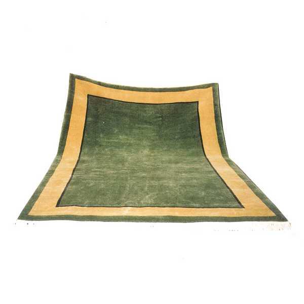 4236 domicil sensa teppich nepal gruen gelb wolle handgeknuepft muenster