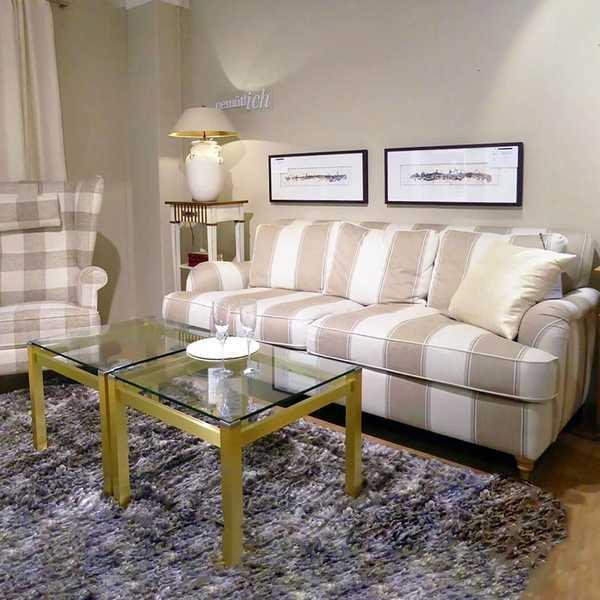 7764 domicil sensa couch sofa melody theodore weich 2,5 sitzer fuesse messing rollen muenster