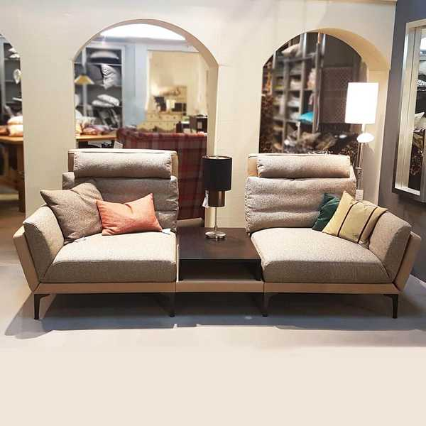 sensa sofa couch modern kino flur diele beige modern braun okaa muenster
