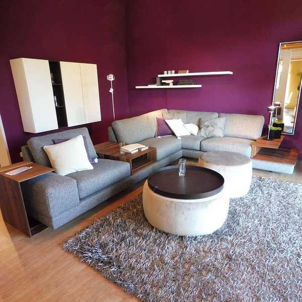 sensa ecksofa mino grau braun holz ablage l-form couch muenster
