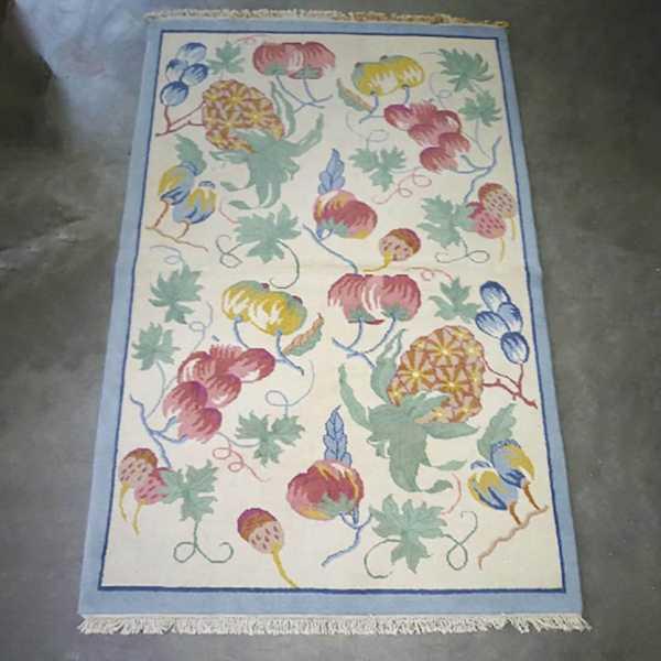 domicil sensa teppich fruits nuts beige blau rot kueche flach muenster
