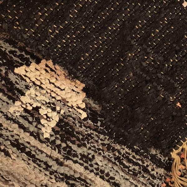 2600 domicil sensa teppich lando tulpani schwarz beigefraise flach baumwolle handgewebt muenster
