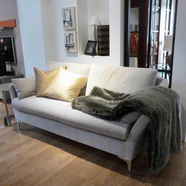 7315 sensa couch sofa zonta 2 sitzer city velvet hell chrom fuss armlehne abklappbar muenster