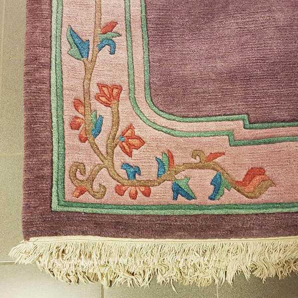 1191 domicil sensa teppich nepal rankenmotiv lila wolle handgeknuepft muenster