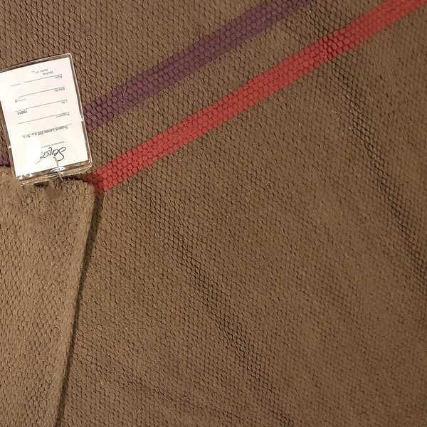 2607 domicil sensa teppich lando rahmen grau braun lila pink schlicht baumwolle handgewebt muenster