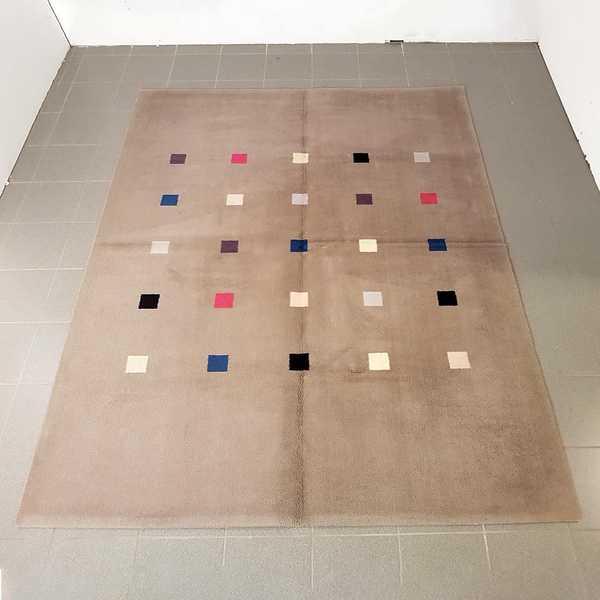 2148 domicil sensa teppich jab handtufting quadrat modern grau flormaterial wolle handgetuftet muenster