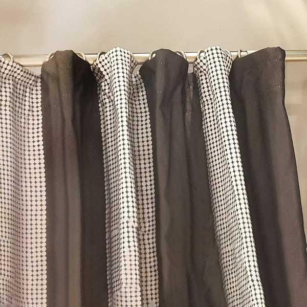 fensterdeko deko dekoschal weiss streifen antrazit getuftet schlaufen vorhang gardine gardinenstange jalousie sensa einrichtungen muenster