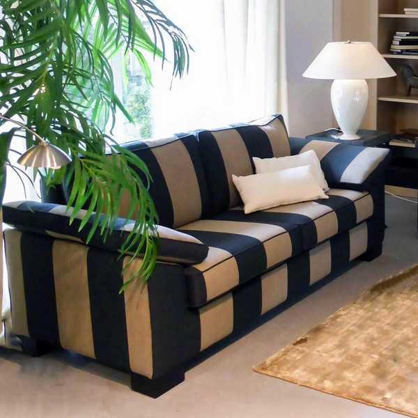 4440 4133 sofa concerto blockstreifen rapport schwarz sand beige modern weich muenster