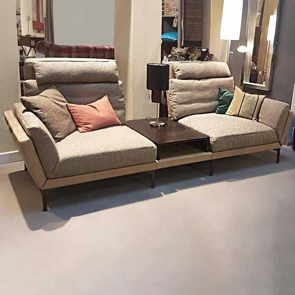 sensa sofa couch modern kino flur diele beige modern braun okka muenster
